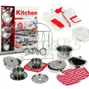 ست اسباب بازی آشپزخانه مدل ظروف استیل