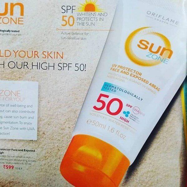 کرم ضد پیری اوریفلیم محافظ UV سان زون SPF50